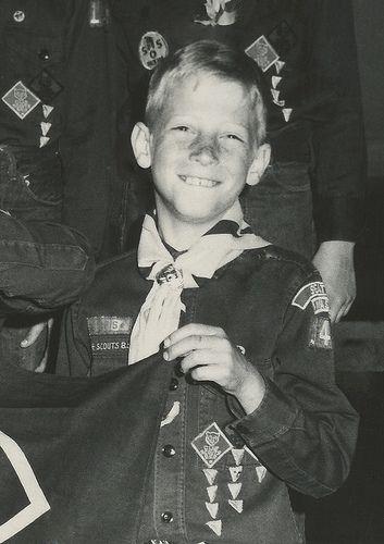 Impressive Americans: a young Bill Gates in his Boy Scout uniform. #billgates #boyscouts