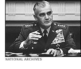 General William Westmoreland - General William Westmoreland commanded U.S. military operations in Vietnam from 1964-68. His highly publicized, positive assessments of the American military prospects were shattered by the Tet offensive of 1968, in which Communist forces boldly attacked cities and towns throughout South Vietnam. Westmoreland later served as the Army's chief of staff.
