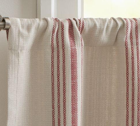 Pottery barn cafe curtains