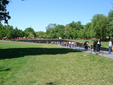 Vietnam Veterans Memorial - pays tribute to those who served in the Vietnam War.