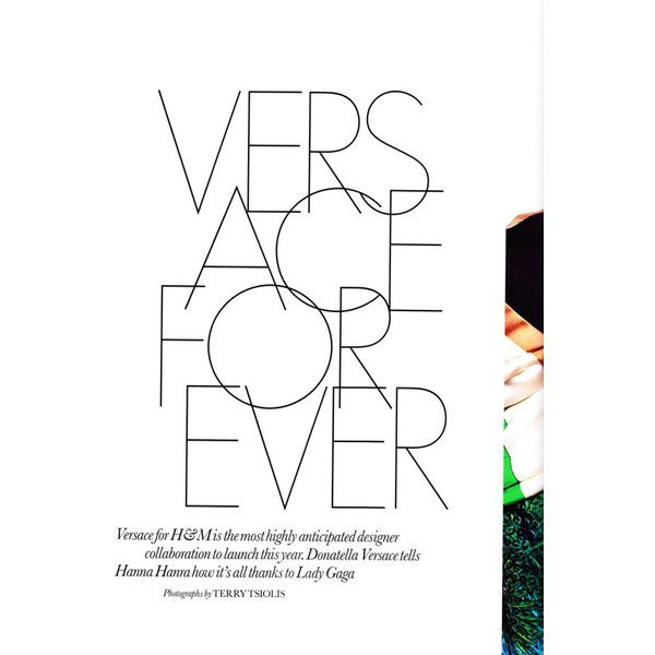 Versace for H&M in ELLE UK ❤ liked on Polyvore featuring text, words, backgrounds, articles, quotes, phrase and saying