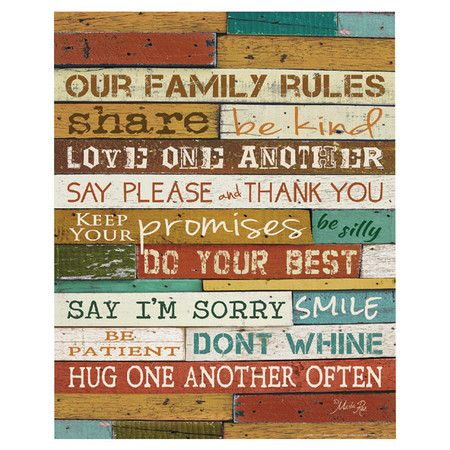 Our Family Rules Canvas Print