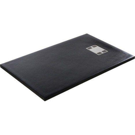 Receveur de douche rectangulaire l.120 x l.80 cm, résine noir Slate