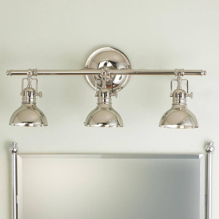 Pullman bath light 3 light master bath vanities and for Contemporary bathroom vanity lighting