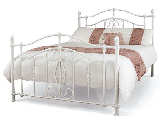 serene nice white metal bed frame at bestpricebedscouk