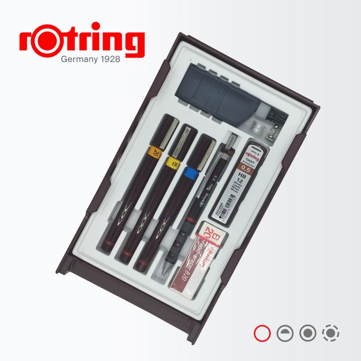 ==> [Free Shipping] Buy Best Germany Rotring Stylus Master Set Liner/Mechanical Pencil/Refill/Ink/Eraser/Compass Graphics Design Set Online with LOWEST Price | 32673496733