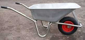 Carrimore Metal Pan Wheelbarrow-Flat Pack Good quality steel 120 litre heavy duty wheelbarrow supplied flat packed for easy assembly This wheelbarrow