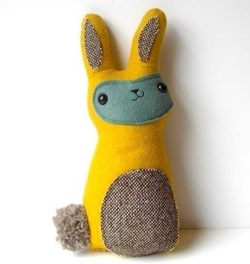 Sonny, The happy-go-lucky bunny - Made to order by Sleepy King. $36.00, via Etsy.