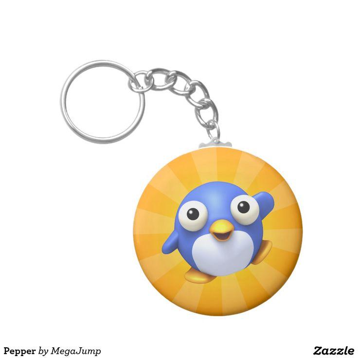 Pepper Basic Round Button Keychain. Regalos, Gifts. #llavero #keychain