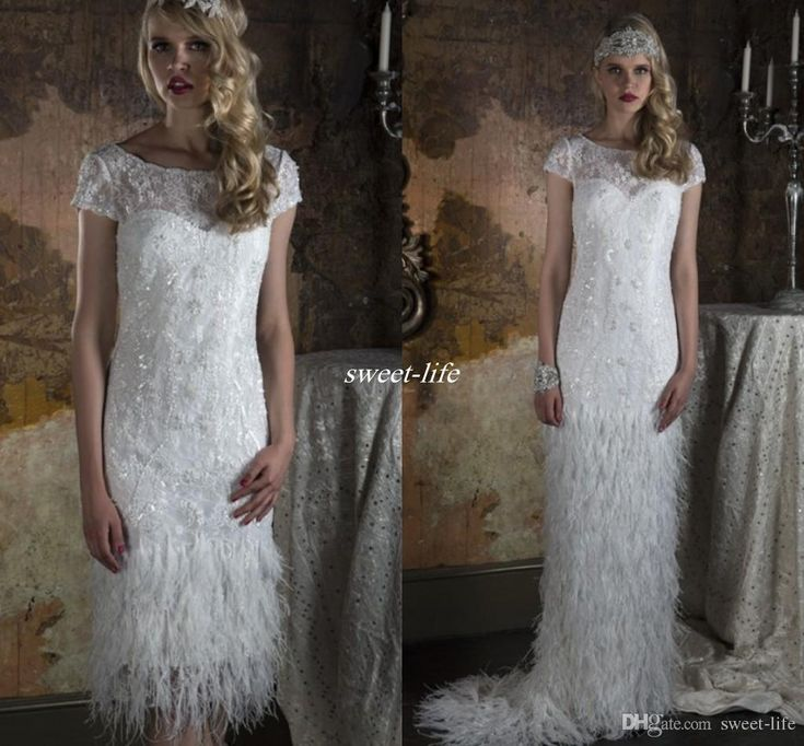 Discount Custom Vintage Greek Style A Line Detachable: 1000+ Ideas About Feather Wedding Dresses On Pinterest