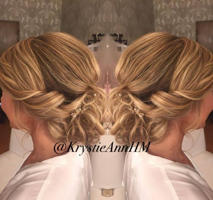 Romance = Curls + Twists <3  Hair: www.krystieann.com  Venue: Jellyfish Restaurant, Punta Cana  Bridal hair, wedding hair, curls, blonde hair, blonde updo, romantic updo, romantic hair, beach wedding hair, wedding hairstyles, bridal hairstyles, beach bride, wedding updo, punta cana brides