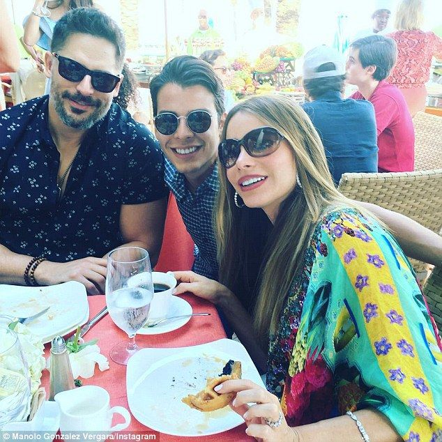 Has a great ring to it! Sofia Vergara showed off her sparkling wedding ring over brunch at The Breakers Beach Club with her new husband Joe Manganiello and her son Manolo (her 23-year-old son shared the snap on Instagram on Monday)
