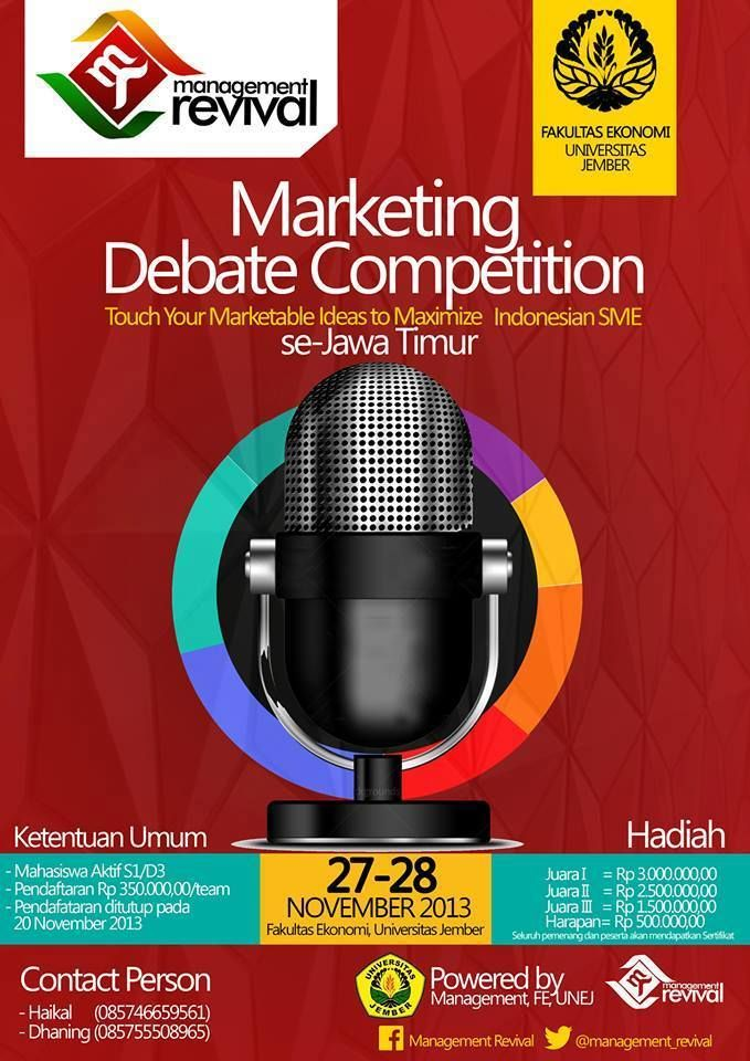 Marketing Debate Competition | Fakultas Ekonomi Universitas Jember