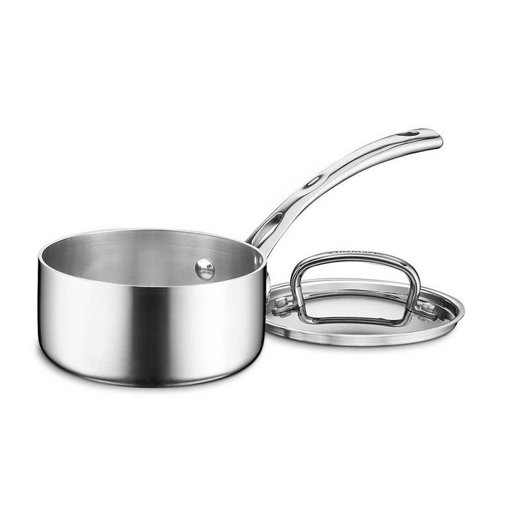 Cuisinart French Classic Tri-Ply Stainless Steel 1-qt. Saucepan, Grey
