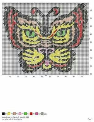 Butterfly tiger wall hanging