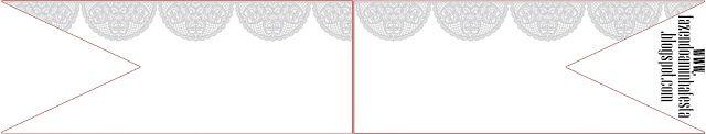 Provençal em Renda Branca - Kit Completo com molduras para convites, rótulos para guloseimas, lembrancinhas e imagens!