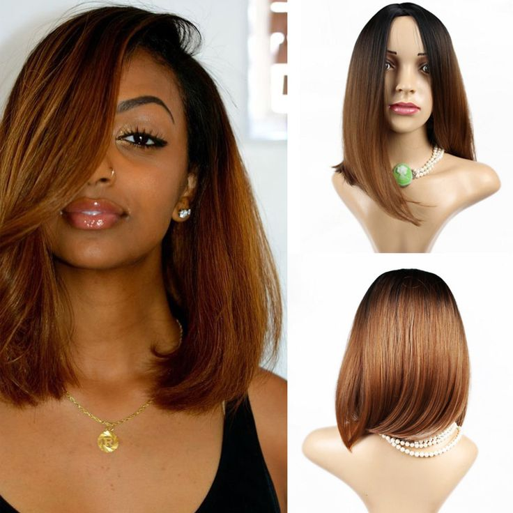 Find More Synthetic Wigs Information about Ombre Synthetic Short Bob Lace front Wigs 1PC Two Tone Ombre Color Fashion Straight Bob Wigs Free slow Shipping,High Quality wigs for black women,China wigs for sale cheap Suppliers, Cheap wig japan from Rolty hair VIP Store on Aliexpress.com