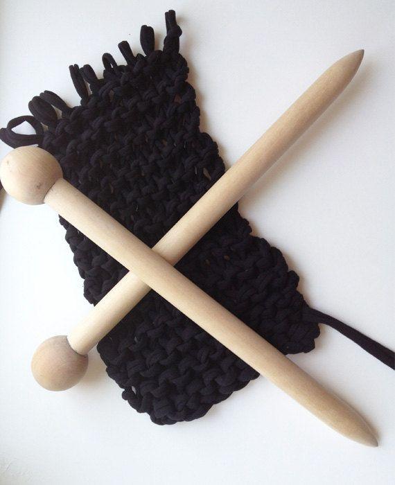 Giant Knitting Needles. $20.00, via Etsy.