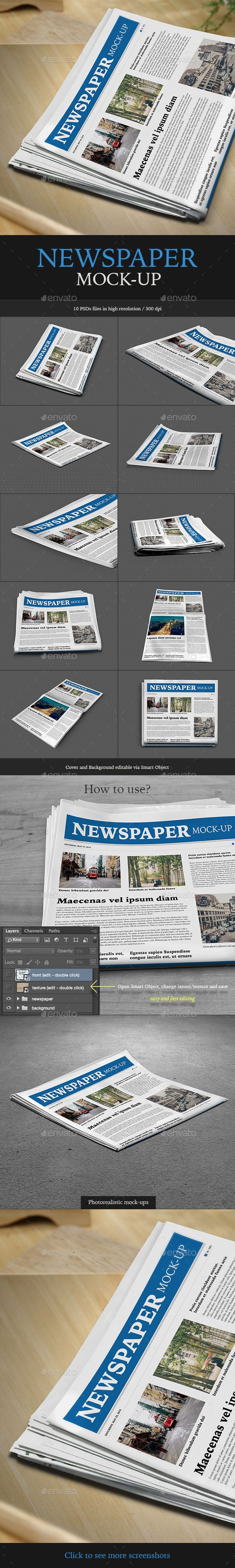 Newspaper Mock-up #design Download: http://graphicriver.net/item/newspaper-mockup/11650840?ref=ksioks