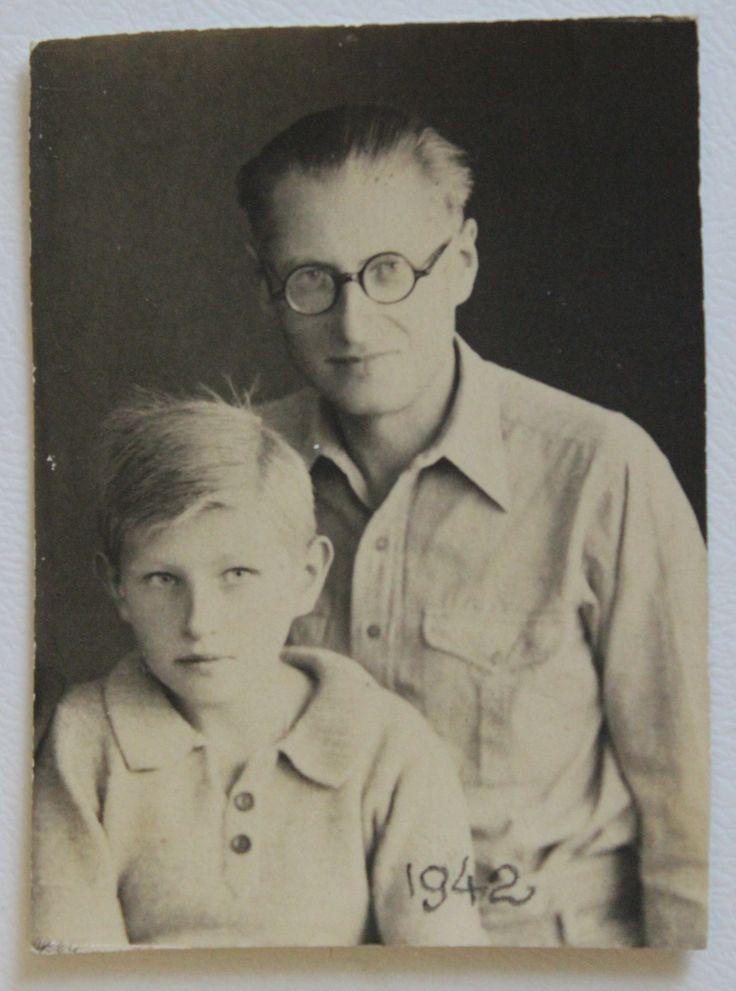 Jutek Hornung and his father Tadeusz Hornung, shortly after their escape from Russia, 1942 (Courtesy of Jutek Hornung)