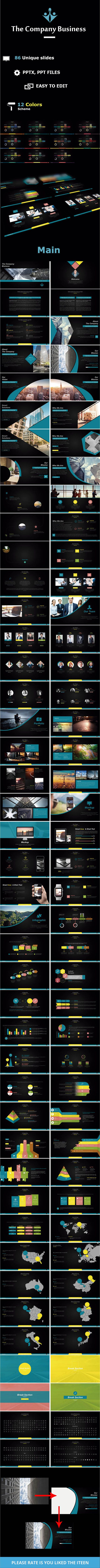 The Company Business Powerpoint - #PowerPoint Templates #Presentation Templates
