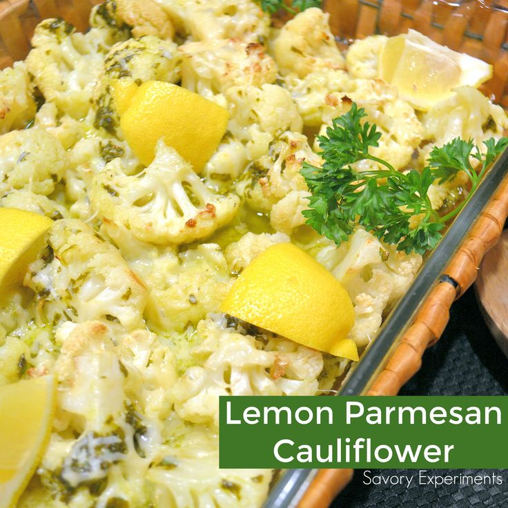 Lemon Parmesan Cauliflower is roasted to perfection with citrus, seasoning and a sprinkle of nutty cheese. An easy side dish for any meal!