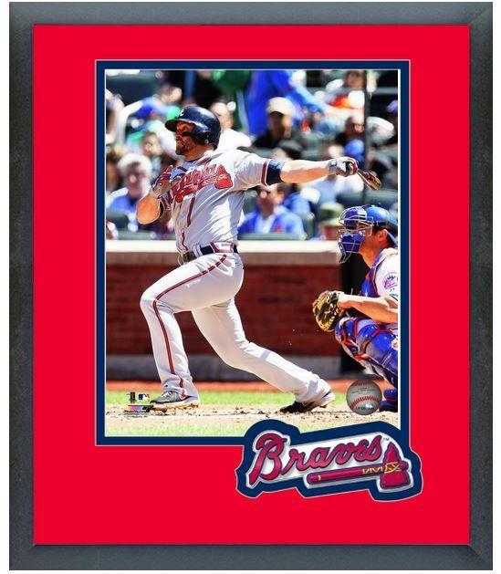Dan Uggla 2014 Atlanta Braves - 11 x 14 Team Logo Matted/Framed Photo