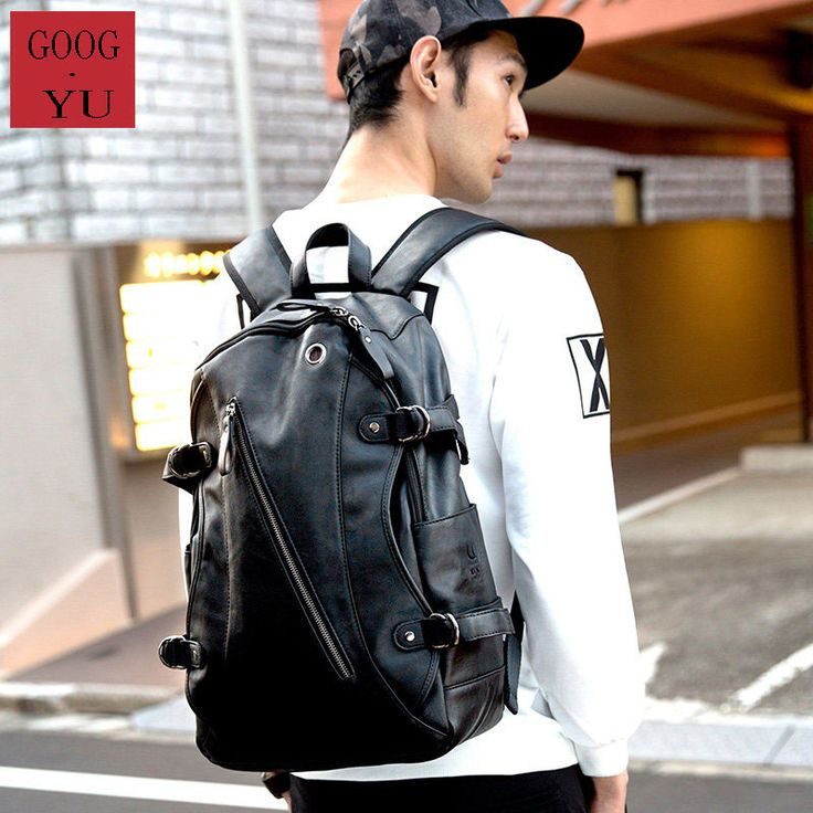 Front Inclined Zipper Women Men Fashion School Bag Travel Bag Trendy Side Buckle Ornament Trendy Contrast Color Casual Backpack