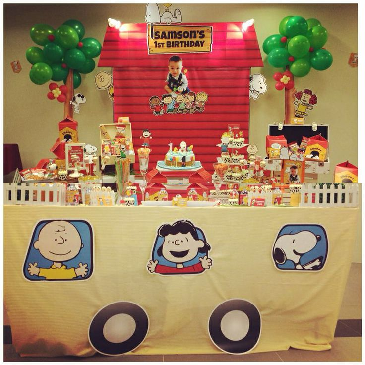 A Snoopy Peanuts Themed Birthday Party Design And Setup By Parteeboo The