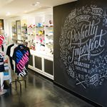 Delicious - Dana Tanamachi | Custom Chalk Lettering installation at TOMMY (Harajuku) by Tommy Hilfiger in Tokyo, Japan