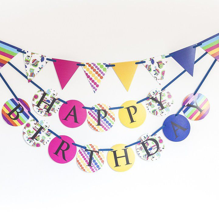 'Over the rainbow' Made for Ava birthday banner and bunting set
