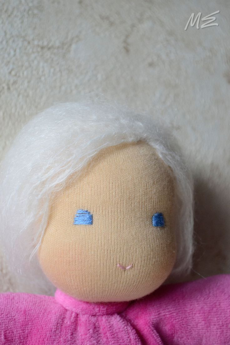 вальдорфская кукла Розовая Плюшечка,  waldorf doll