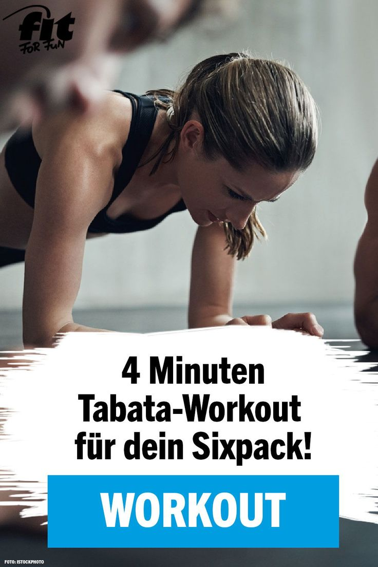Tabata-Workout: Sixpack in nur 4 Minuten – FIT FOR FUN