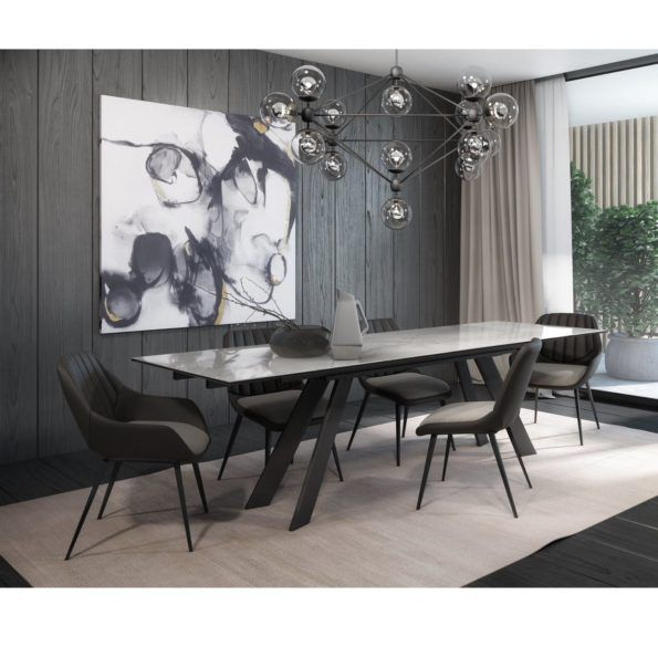Oliver Extendable Dining Table Mikaza Meubles Modernes Montreal Modern Furniture Ottawa Dining Table Modern Rectangle Dining Tables Dining Table Chairs