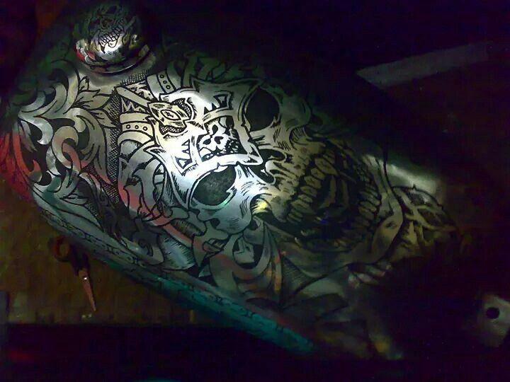 Tattos engrave in tank