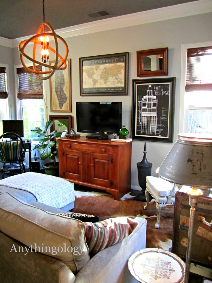 Man Cave Urban Meaning : Urban man cave michael s office love the dark ceiling