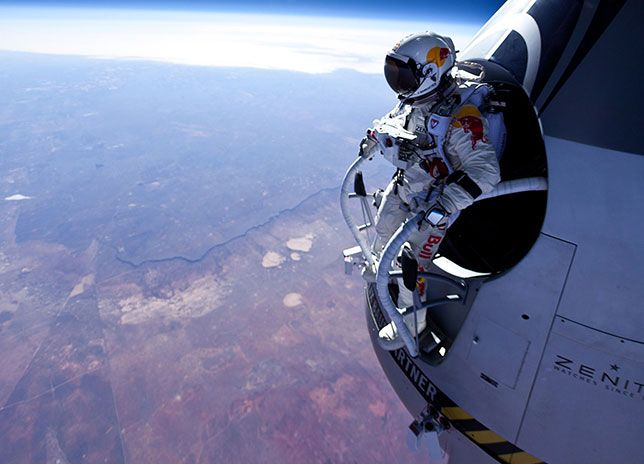 leap of faith! Inspirational and positively awesome, when you reach for the moon, you'll be among the stars - GO Felix!!