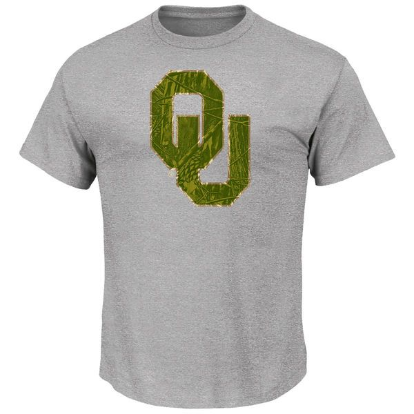 Oklahoma Sooners Majestic Laid Out T-Shirt - Steel - $14.99