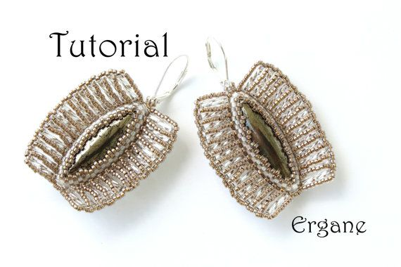 Amaizing earrings. Excelent for special occasions as weddings or formal party.  Lenght of earring is 3 cm.  This tutorial is for intermediate