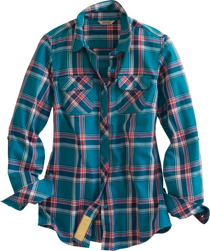 The Women's Crosscut Performance Flannel Shirt from Duluth Trading Company  is made of the the fluffy-soft stuff you love, yet wicks moisture from skin  for a ... - Best 20+ Plaid Shirt Women Ideas On Pinterest Blue Flannel