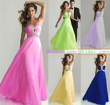 Sexy Chiffon Wedding Bridesmaid Dress Cooktail Party Prom Gown Size 6-16