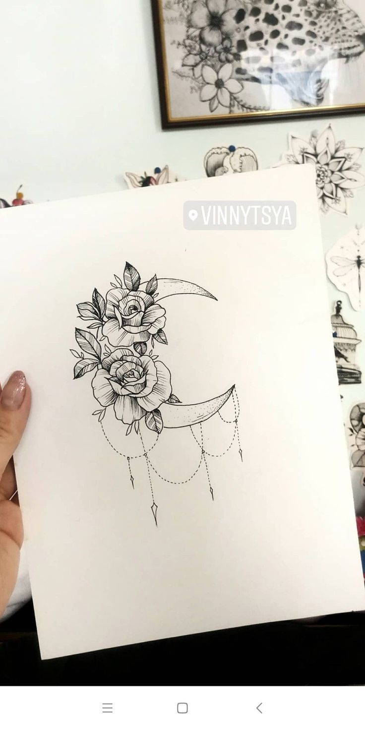 Moon Tattoo Designs – SkillOfKing.Com #flowertattoos