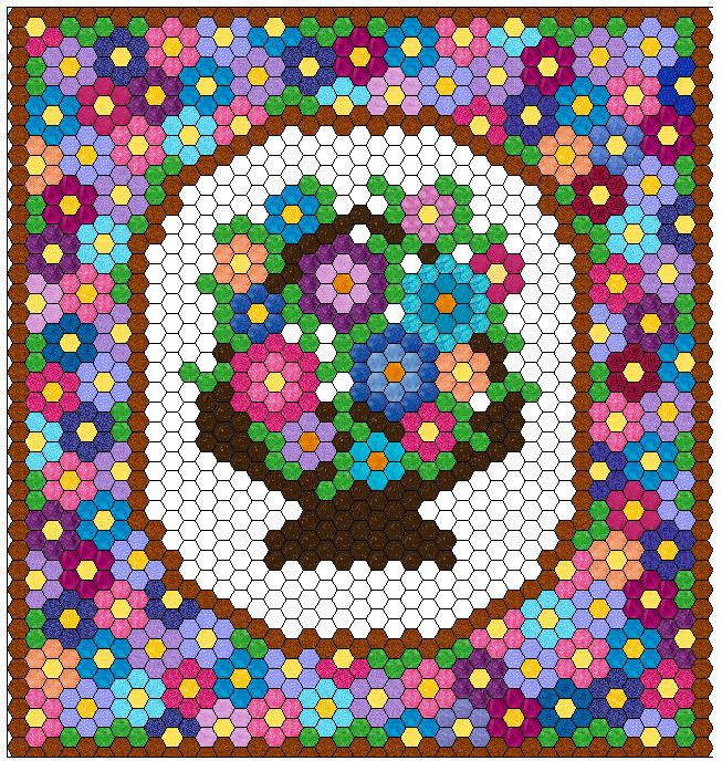 1000+ Images About Hexagon Quilts On Pinterest