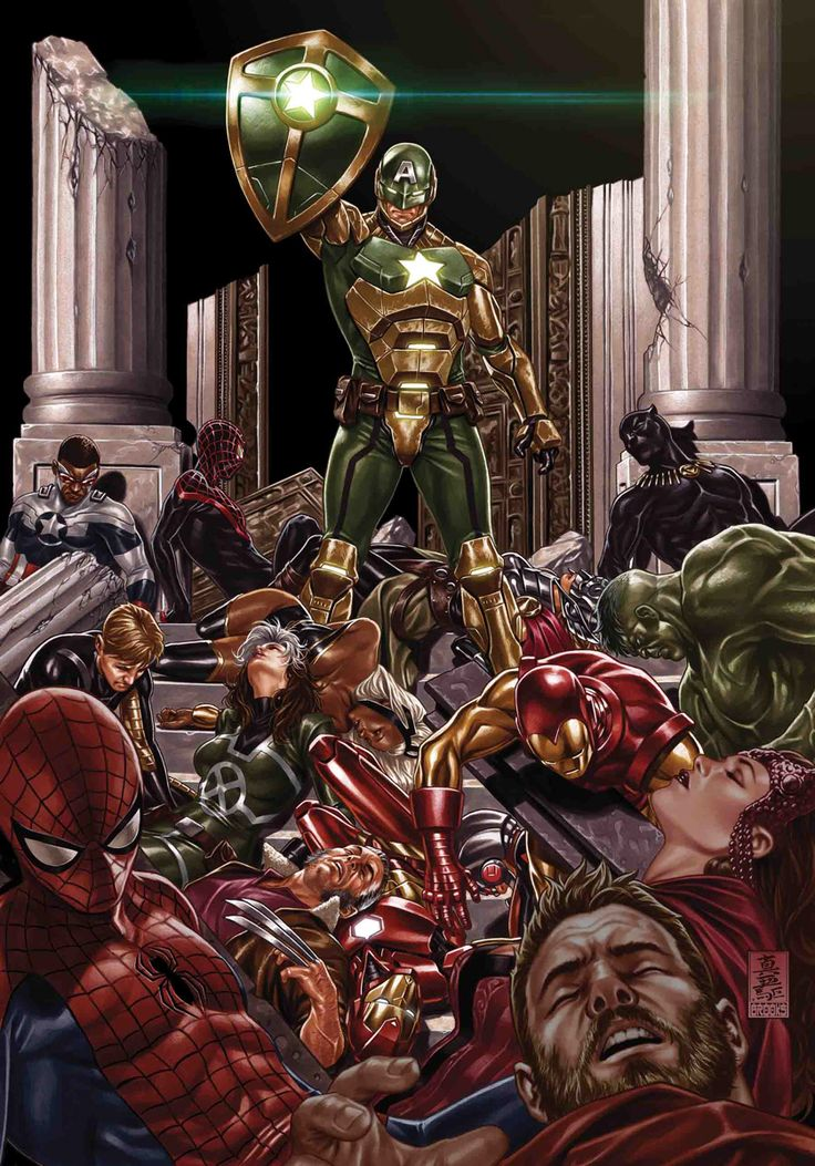 SECRET EMPIRE #10 (of 10) NICK SPENCER (W) • STEVE MCNIVEN (A) Cover by MARK BROOKS Variant Cover by J. SCOTT CAMPBELL Villain Variant Cover by DAN MORA Civil Warrior Variant Cover by TBD Action Figure Variant Cover by JOHN TYLER CHRISTOPHER