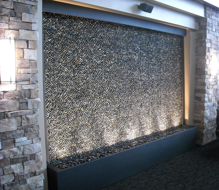 Custom Pebble Water Feature For Olathe Medical Center