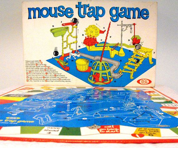 Mouse Trap Board Game 1960
