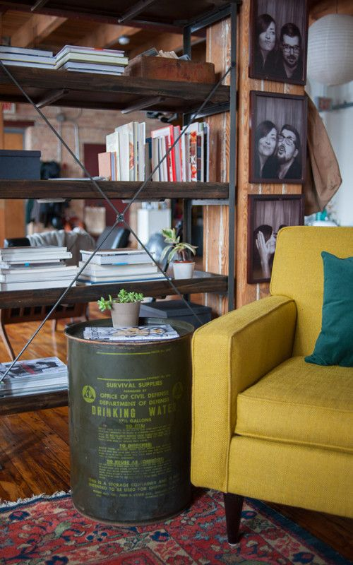 that chair... and the barrel as a side table
