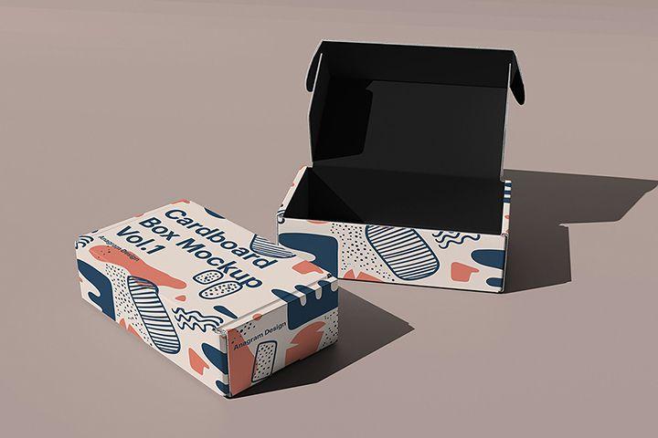 Download Free Cardboard Box Mockup Free Design Resources Box Mockup Free Mockup Packaging Mockup