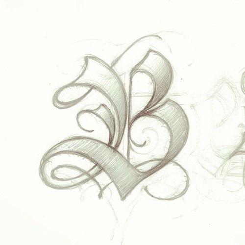 Letter Art Design : B by matthew tapia abc pinterest letters fonts