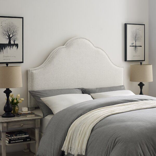 Haylee Arch Upholstered Panel Headboard White Headboard Panel